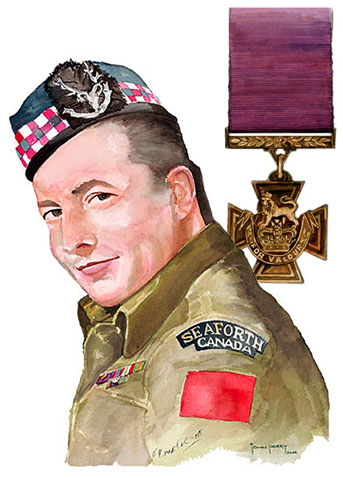 Portrait of Smokey Smith VC by John Perry, CD