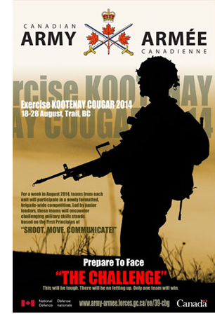 Exercise KOOTENAY COUGAR poster by John Perry
